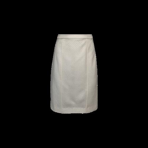 Rebecca Minkoff White Textured Pencil Skirt