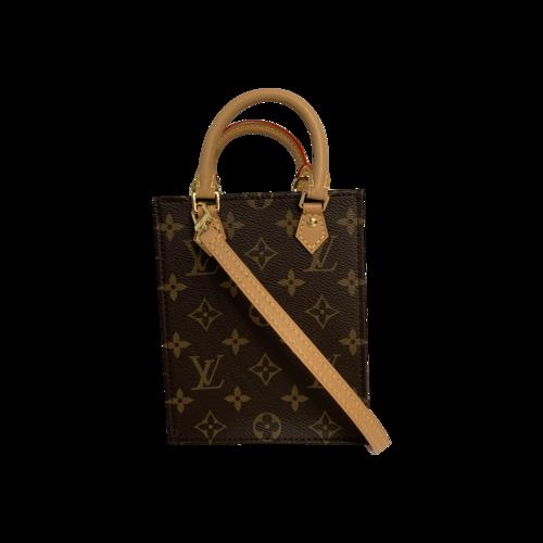 Louis Vuitton Monogram Petite Sac Plat Bag