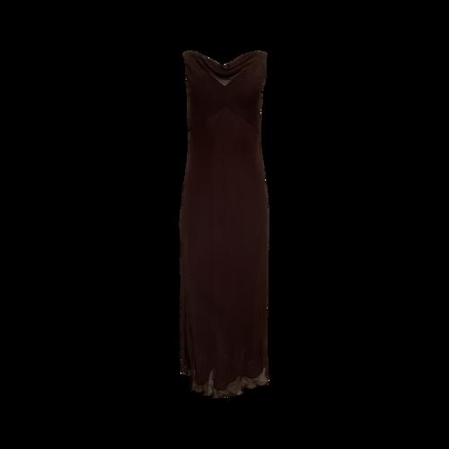 Elie Tahari Vintage Brown Cowl Back Gown