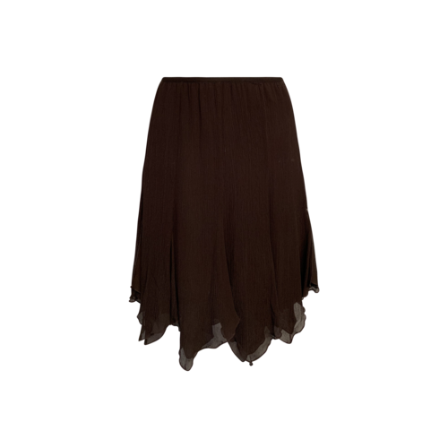 Lord & Taylor Vintage Brown Silk Skirt