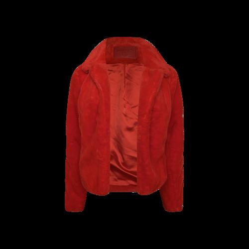 BLANKNYC Red Faux Fur Jacket