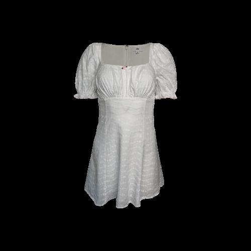 """LPA White """"Simona"""" Eyelet Dress"""