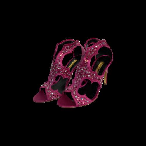 """Rupert Sanderson Pink """"Estelle"""" Embellished Sandals"""