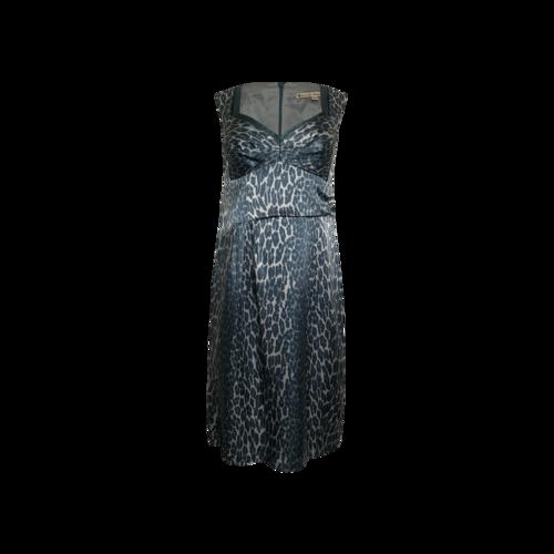 Nanette Lepore Green Cheetah Print Dress