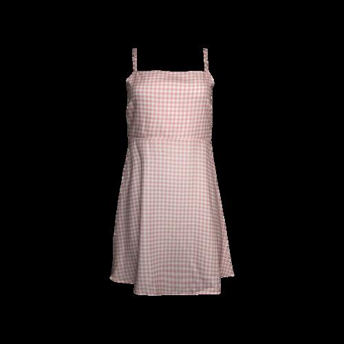 Show Me Your Mumu Pink Gingham Corset Tie Dress
