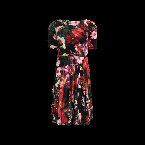 Marc Bouwer Multi Floral A-Line Dress