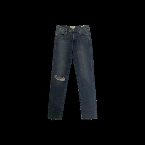 "FRAME Blue ""Le High Straight"" Jeans"