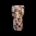 Multi Floral Midi Print Tiered Dress