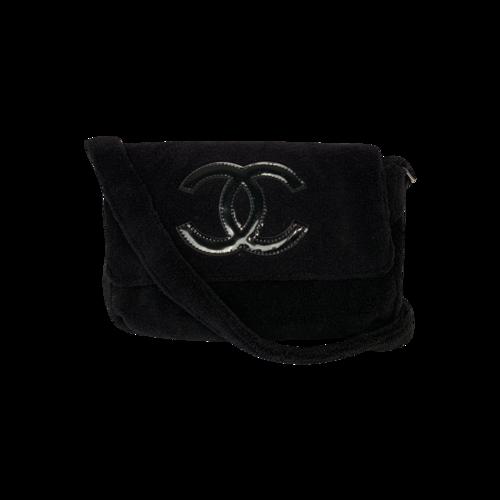 CHANEL Black Precision VIP Bag w/ Black Logo