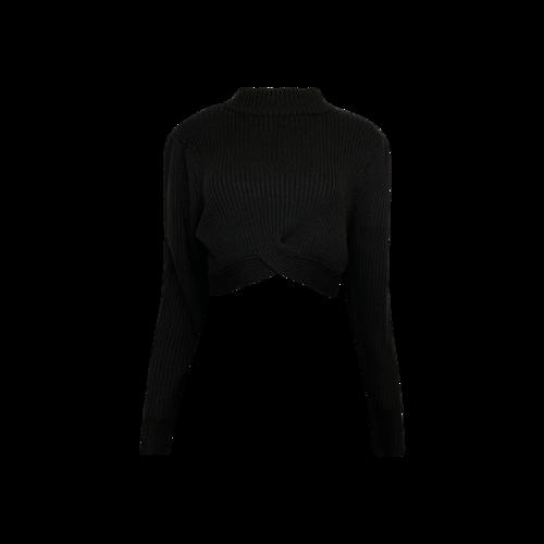 """NBD Black """"Blair"""" Turtleneck Cropped Sweater"""