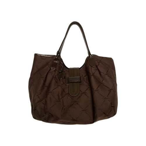LONGCHAMP Vintage Brown Logo Shoulder Bag