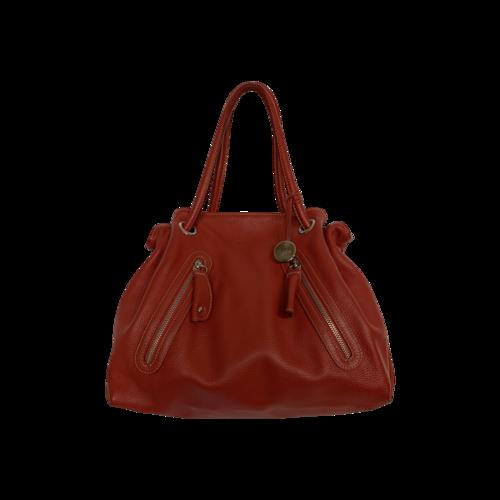 Furla Red Multi-Zip Shoulder Bag