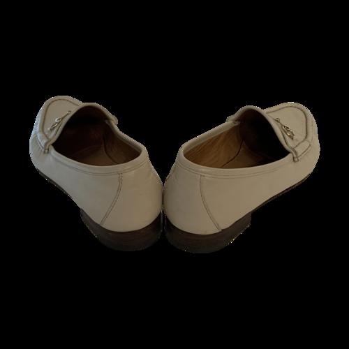White Horsebit Loafers