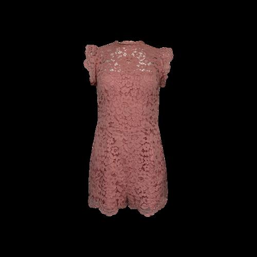 BB Dakota Pink Lace Romper