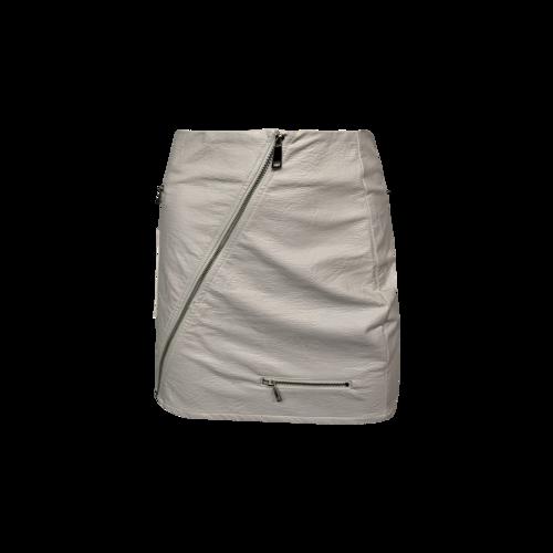 "I.AM.GIA White ""Courtney 2.0"" Multi-Zip Skirt"