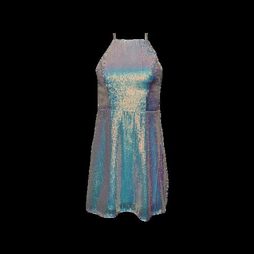 Show Me Your Mumu Irridescent Sequin Halter Dress