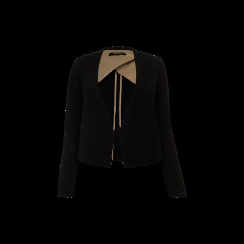 Theory Black Cropped Tuxedo Blazer