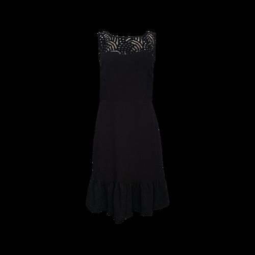 Karl Lagerfeld Black Lace Overlay Dress