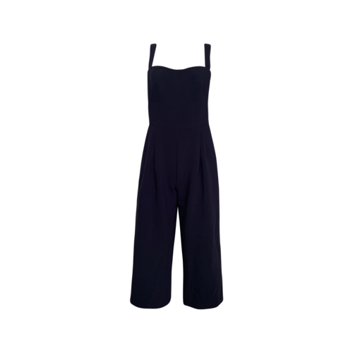 Gal Meets Glam Navy Blue Cropped Jumpsuit