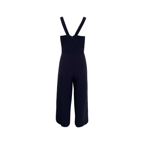 Navy Blue Cropped Jumpsuit