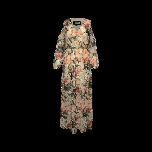 Alexia Admore Floral Print Cold-Shoulder Maxi Dress