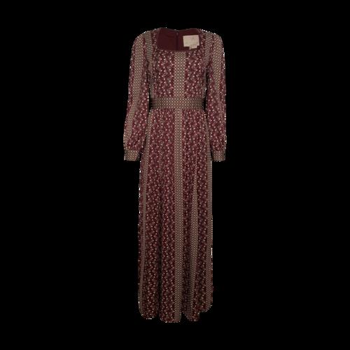"Gal Meets Glam ""Freya"" Print Long Sleeve Maxi Dress"