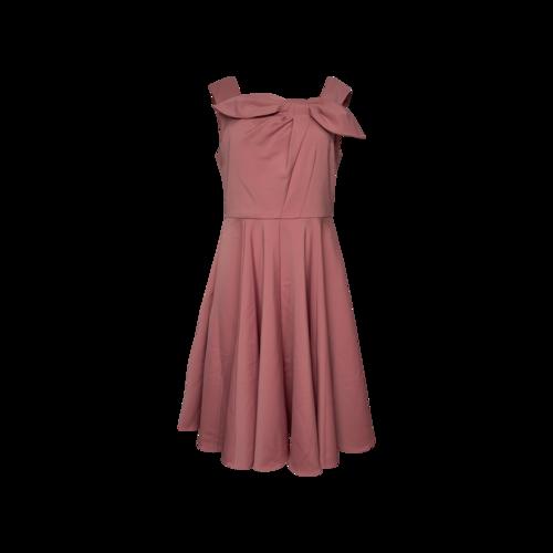 "Gal Meets Glam Desert Rose Pink ""Angelica"" Bow Dress"