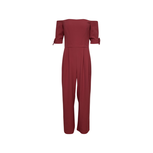 Gal Meets Glam Pink Off-the-Shoulder Jumpsuit w/ Bows