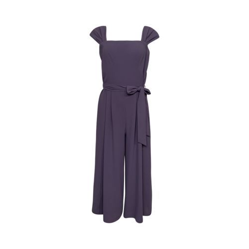 """Gal Meets Glam Lilac """"Veronica"""" Cropped Jumpsuit"""