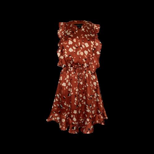 "Adelyn Rae Red Printed ""Mae"" Dress"