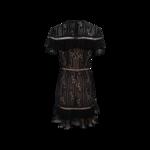 Black Lace Ruffle Dress