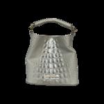 """White Mini """"Amelia"""" Bucket Bag"""