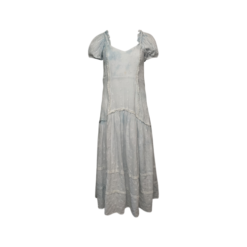 "Blue ""Jeanette"" Pleated Dress"