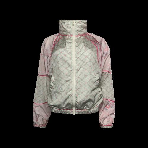 Love Shack Fancy Mixed Floral Pattern Windbreaker Jacket