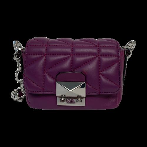 Karl Lagerfeld Purple K/Kuilted Mini Crossbody Bag