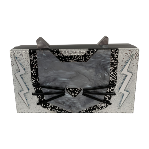 Karl Lagerfeld Miniaudiere Cat Clutch