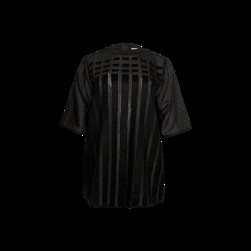 Calvin Klein Black Sheer Textured Stripe Top
