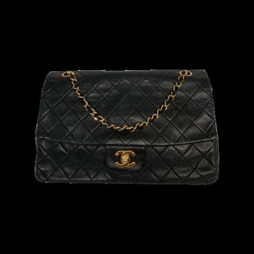 CHANEL Black Vintage Quilted Flap Bag