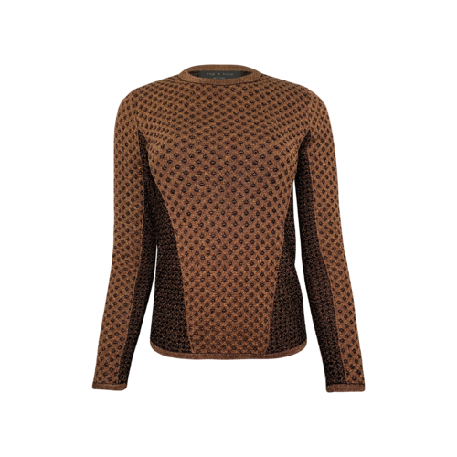 rag & bone Metallic Copper Long Sleeve Top