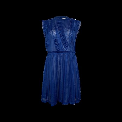 Givenchy Blue Basketball Jersey Mesh Dress