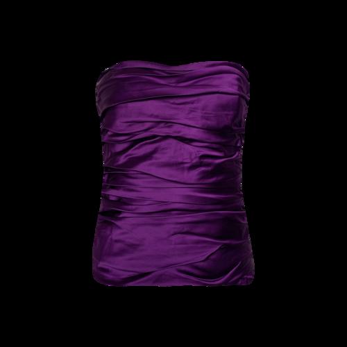 Ralph Lauren Purple Strapless Ruched Top