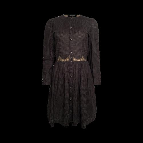 The Kooples Black Embroidered Shirt Dress