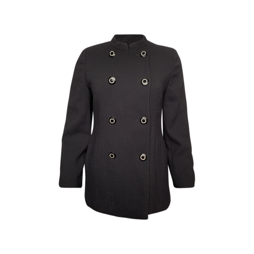 Valentino Vintage Black Double-Breasted Jacket