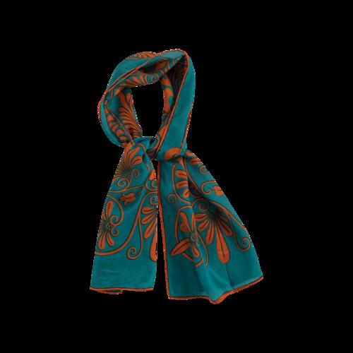 Anne Klein Vintage Floral Print Silk Scarf