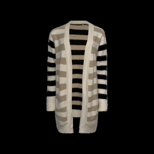 Diane von Furstenberg Long Sleeve Multi Stripe Open Cardigan