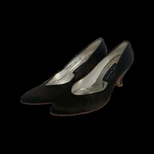 Stuart Weitzman Vintage Brown Pointed Kitten Heels