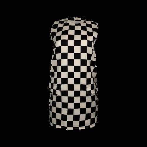 Versace Vintage Checkered Print Dress