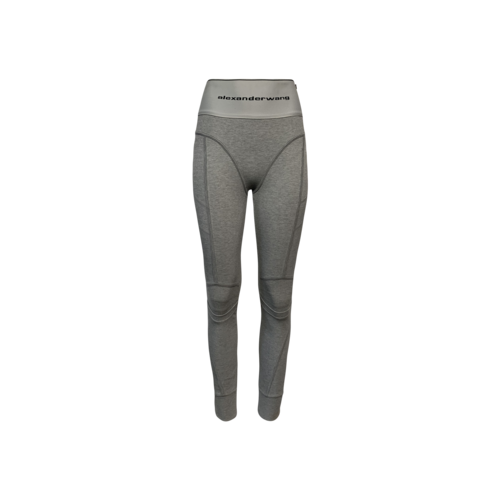 Alexander Wang Grey Logo Elastic Leggings