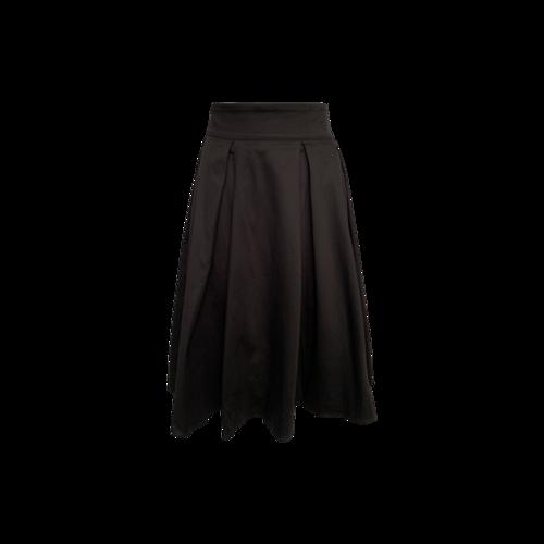 Laura Brynes Black Pleated A-Line Skirt