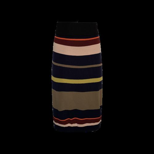 Multi-Color Stripe Stretch Skirt